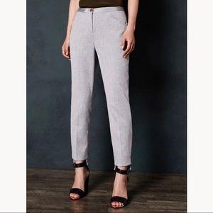 Ted Baker London Daizit Gray Stitch Detail Pants